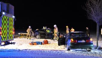 Två bilar kollidera på Järvgatan