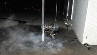 Mopedbrand på Dammhagskolan