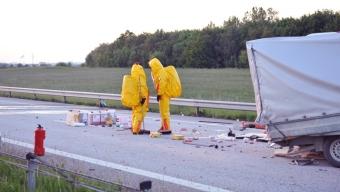 Trafikolycka med farligt gods