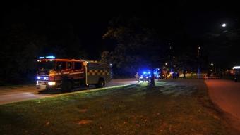 Trafikolycka ledde till plåtskador