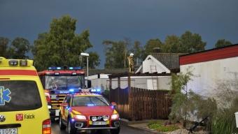 Mindre villabrand i Häljarp