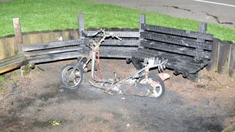 Brand i moped vid Gustav Adolfs-skolan