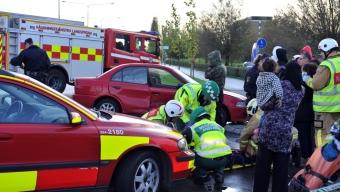 Trafikolycka på Emaljgatan