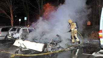 Brand i husvagn på Koppargården