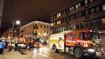 Lägenhetsbrand på Järnvägsgatan