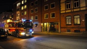 Brand i hiss på Borgmästargatan