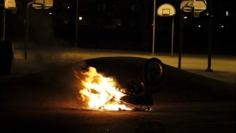 Mopedbrand vid Dammhagsskolan