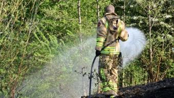 Gräsbrand på Västra Fäladen
