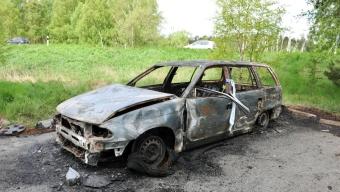 Bilbrand vid Lundåkra