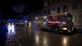 Kraftig lägenhetsbrand på Slottsgatan