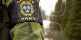 Marinbasens skyddsstryka grep en person