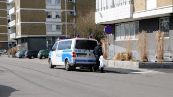 Polisiärt arbete vid slottscaféet
