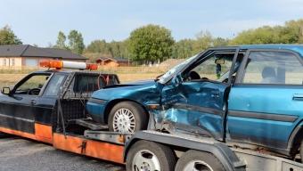 Två bilar kolliderade på Barsebäcksvägen