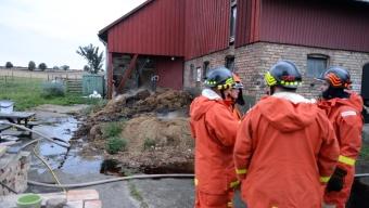 Ladugårdsbrand var brand i gödselstack