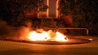 Brand i moped på Dammhagskolan
