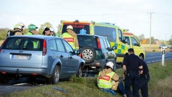 Trafikolycka på väg 17
