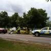Mc-olycka utanför Friskis&Svettis