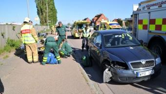 MC-olycka på Malmövägen