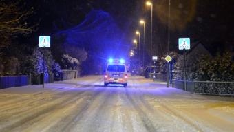 Polis och ambulans sökte i Häljarp