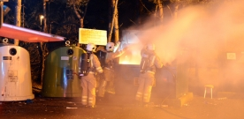 Två containerbränder under natten