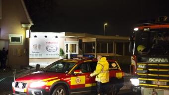 Brand på pizzeria i Häljarp