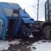 Godståg krocka med lastbil