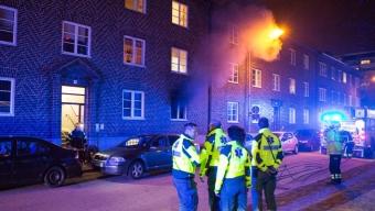 Lägenhetsbrand i Helsingborg