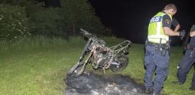 Explosion var mopedbrand