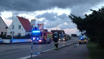 Brand på terrass i Höganäs