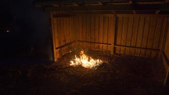 Brand vid Tallskolan