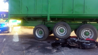 Mc kolliderade med traktor