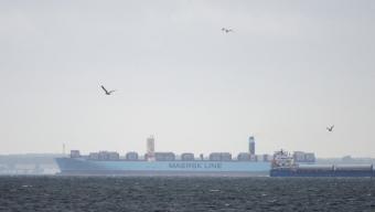 Majestic Mærsk gled genom Öresund