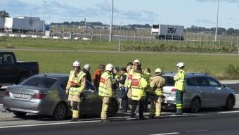 Trafikolycka vid Landskrona södra
