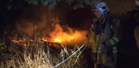 Kolonistuga brann ner – mordbrand