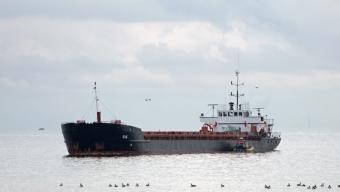Lastfartyg på grund