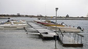 Båtar drev ut från lusthamn