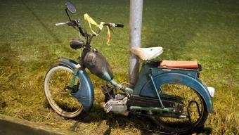 Mopedbrand på samåkningsparkering