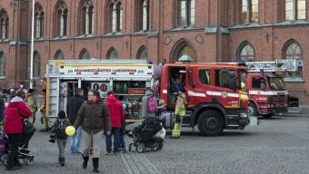 Träffa räddningstjänsten i helgen