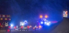 Trafikolycka på E6 vid Milstolpen