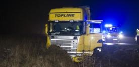 Lastbilsolycka på E6