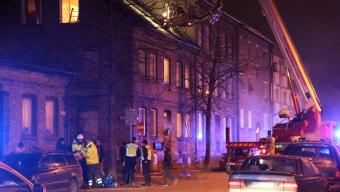 Brand i flerfamiljshus på Suellsgatan