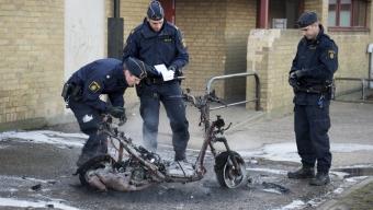 Brand i skola var mopedbrand