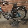 Cykelbrand orsakade rök i trapphus