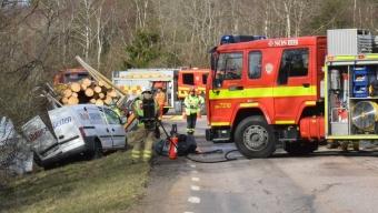En död efter allvarlig olycka på Hallandsåsen