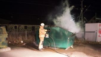 Brand i container i Tågarp