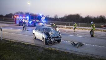 En skadad i trafikolycka på E6