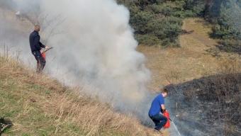 Ny gräsbrand vid Sandåkerskolan