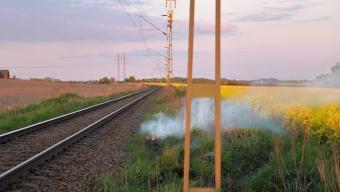 Gräsbränder orsaka tågstopp