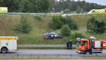 Våldsam singelolycka vid Lundåkra