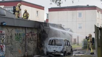 Bilbrand spred sig till industri